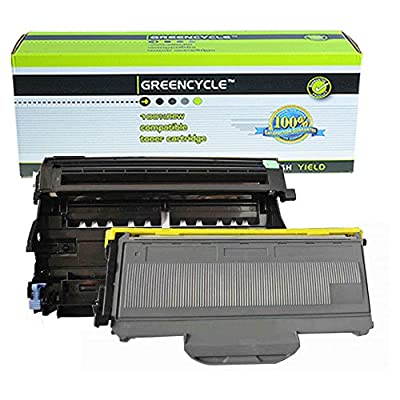 (1 Drum + 1 Toner) GREENCYCLE Replacement toner cartridge and drum set for Brother DR360 + TN360 HL-2140/2150/2170 Series Printer