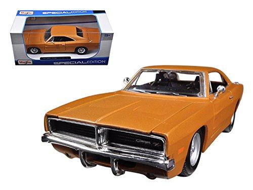 Orange Dodge Model - Maisto 31256 1969 Dodge Charger R/T Orange 1/25 Diecast Model Car