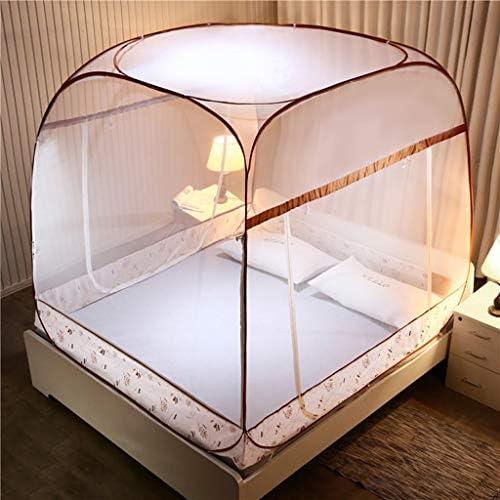 蚊帳 1.5/1.8M 学生 1.2M ベッド蚊帳 スクエア トップ ジッパー 蚊帳 折りたたみ簡単 持ち運び簡単 1.5m*2m WZ18169