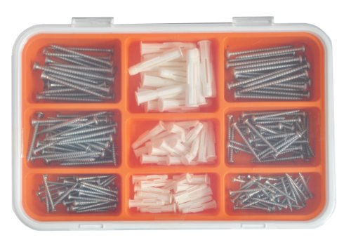 Ikea FIXA 260-Piece Screw and Plug Set by IKEA