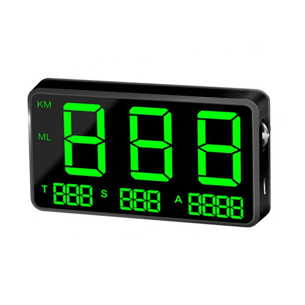 Digital Auto HUD GPS D.ragon Head Up Display HUD tachimetro Colore Nero Tachimetro con Allarme di velocit/à KM//h mph Speed Display GPS per Bici Moto Auto