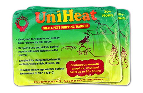 Uniheat Shipping Warmer 30+ Hours, 8 PACK >PLUS!< 1 - 10''x18'' Shipping Bags, 30+ Hour Warmth for Shipping Live Corals, Small Pets, Fish, Insects, Reptiles, Etc...AND Shipping Bags to Hold in the Heat by Uniheat
