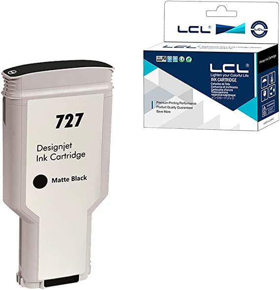LCL Compatible Cartucho de Tinta 727 XL C1Q12A B3P22A 300ML High Yield (1Negro Mate) Reemplazo para HP DesignJet T1500 T2500 T2530ps T920 T930 T930 T1530 Postscript Printer: Amazon.es: Electrónica