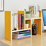 Shelves ZR- Solid Wood Desktop Bookshelf Bookcase Combination Desk Desktop Storage Rack (Color : G)