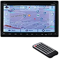 PYLE PRO PLDNB78I 7 Double-DIN In-Dash LCD Motorized Fold-down Touchscreen Navigation DVD Receiver with Bluetooth(R) & GPS
