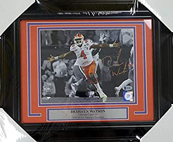 Image Unavailable. Image not available for. Color  DeShaun Watson  Autographed Signed Framed 8x10 Photo Clemson Tigers - Beckett ... ff8b857df