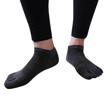 calcetines hombre cortos Sannysis 2 pares calcetines running hombre, calcetines de punta (gris oscuro