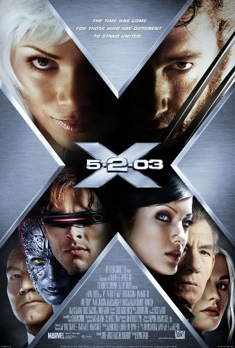 X-Men Movie Poster 2000 27 x 40 inches Patrick Stewart Halle Berry Hugh Jackman James Marsden Ian McKellen Anna Paquin Rebecca Romijn