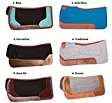 AceRugs PRO Series Orthopedic Barrel Racing Rodeo Thick Wool Felt Non Slip Corrective Show Horse Riding Saddle PAD Blanket TACK Leather