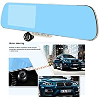 Toboy Dvr-AR05 Big 5 Inch Blue Touch Screen Parking Display Car Full Hd Dash Cam Car Camera DVR Car Video Recorder with Gps+wifi + Speaker+ Night Vision