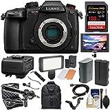 Panasonic Lumix DC-GH5S Wi-Fi C4K Digital Camera Body DMW-XLR1 Adapter + 128GB Card + Battery + Backpack + Monitor + LED Light + 2 Mics Kit