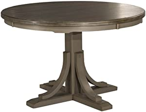 Hillsdale Furniture Hillsdale Clarion, Distressed Gray Round Dining Table, Multi-Step Wirebrush