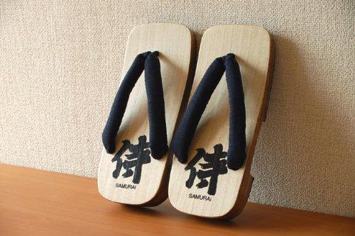 Authentic Japanese Samurai Geta Sandals # Japan 侍 US Size 9.5 (27.5cm)