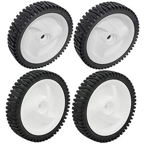 Craftsman 584465301 Lawn Mower Rear Wheel and Craftsman 532403111 Lawn Mower Front Drive Wheel Bundle