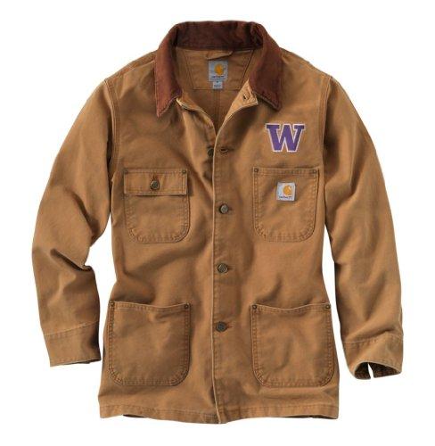 NCAA Washington Huskies Men's Weathered Chore Coat, Small