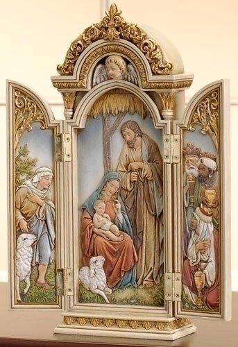 0182DS-46691 12.75 Inch Nativity Triptych Roman Inc