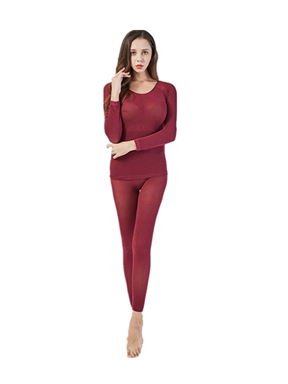 Women's Thermal Underwear Set Ultra Thin High 37 Degree Thermostat Slim
