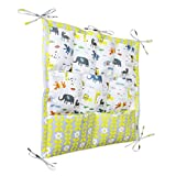 Cot and Change Table Lovely Baby Nursery Diaper Tidy Organizer Cotton Hanging Crib Storage Bag for Baby Bed Cot Crib Changing Table Multi Pockets Bedside Caddy Toys Diapers Snacks Cups Water Bottle Tissue Storage Bag
