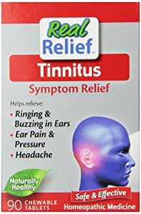 Real Relief Tinnitus Symptom Relief, 90 Chewable Tablets (Pack of 6)