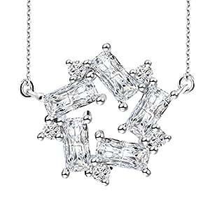 J.Rosée Collar Plata de ley 925 ''Libre Soy'' 3A Circón Collar Para Chica con Hermosa Caja