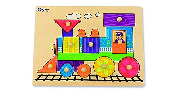 Amazon.com: Andreu Toys 16451 Puzzle-8 Mod. -Train ...