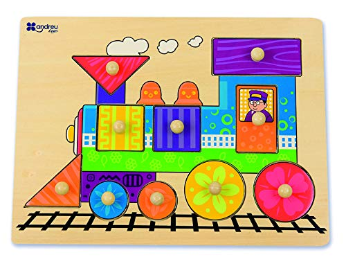 Amazon.com: Andreu Toys 16451 Puzzle-8 Mod. -Train ...