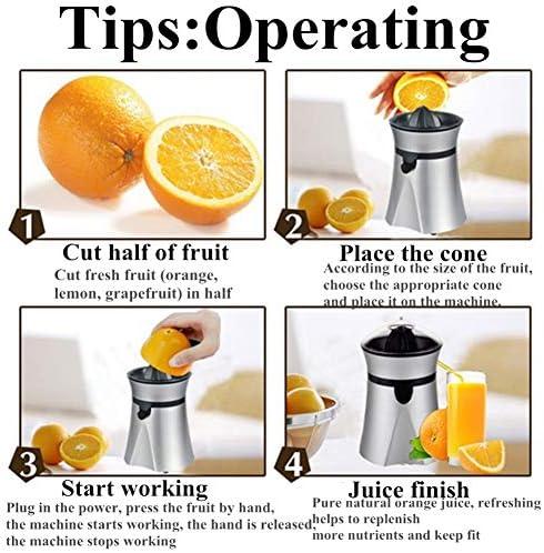Exprimidor eléctrico, exprimidor eléctrico de limón de 400 ml Exprimidor de limón Exprimidor Máquina de jugo de fruta, fácil de usar y limpiar