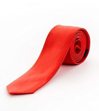 Giosal Corbata Hombre Corbata Delgado Elegante Casual Rojo ...