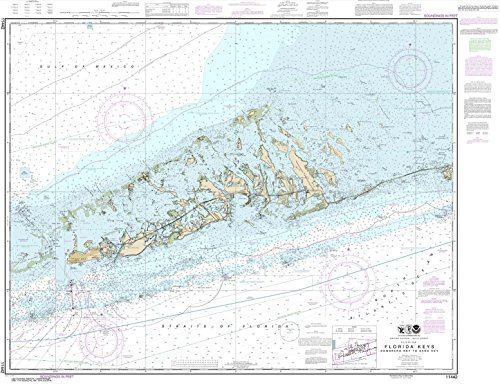 NOAA Chart 11442: Florida Keys Sombrero Key to Sand Key, 35.4 X 46.1, TRADITIONAL PAPER