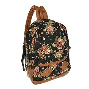 Amazon.com: Women Girl Vintage Cute Flower Floral Bag Schoolbag ...