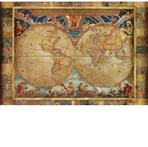 Price comparison product image Wentworth Terrarum Orbis 40 Piece Old Map Wooden Jigsaw Puzzle