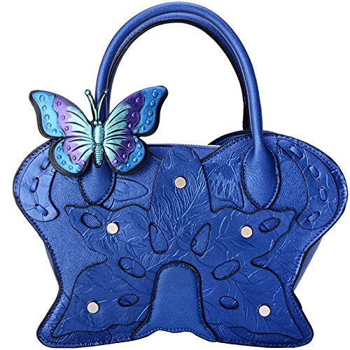 Ladies Female Painted Stereotype Handbags Bag 2018 Shoulder Butterfly Hlh Bleu Diagonal Ethnic Fashion Style 7F45xvnq