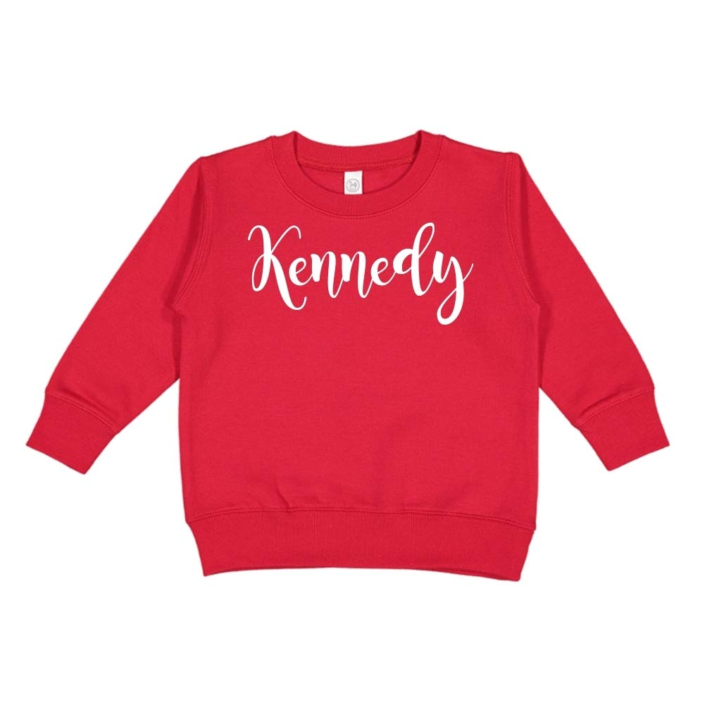 Mashed Clothing Kennedy Personalized Name Toddler//Kids Sweatshirt