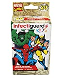 Marvel's Hulk, Spider-Man, and Wolverine Kids Infectiguard Bandages