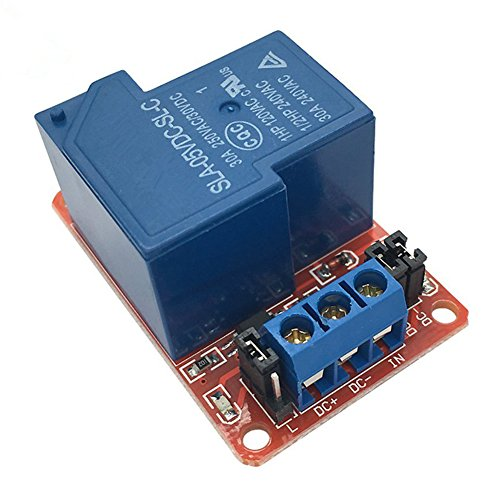 30a Electric Relay (SODIAL(R) 1 way 30A with optocoupler isolation support high and low level trigger relay module relay board 5V)