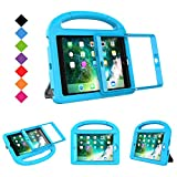 BMOUO Case for iPad Mini 1 2 3 with Built-in Screen Protector, Shockproof Lightweight Hard Cover Handle Stand Kids Case for Apple iPad Mini 1st 2nd 3rd Generation, Blue