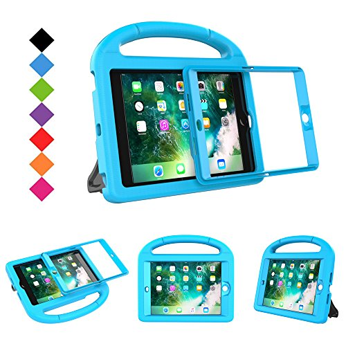 BMOUO Case for iPad Mini 1 2 3 with Built-in Screen Protector, Shockproof Lightweight Hard Cover Handle Stand Kids Case for Apple iPad Mini 1st 2nd 3rd Generation, Blue by BMOUO