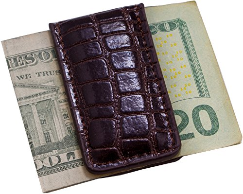 Brown Croco Leather Money Clip BB502W