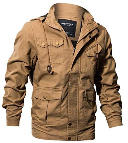Pilota Cotone Uomo Giacche In 1 Tasche Giacca Abbigliamento Classic Felpa Da Multi Ntel Khaki Bomber wRZAwPqC