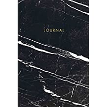 Journal: Elegant Black and White Marble with Gold Lettering - Marble & Gold Journal | 120 College-ruled Pages | 6 x 9 Size