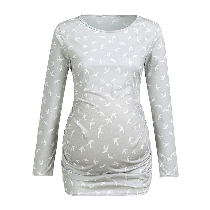 97372b31b42 Amazon.com  Women s Maternity Plain T-Shirt