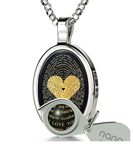 Love Necklace Inscribed Languages Pendant product image