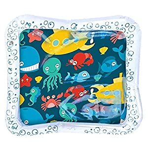 Bicaquu Baby Infant Toddlers Inflatable Water Mat Playmat Tummy Time water play mat Baby Playmat Toddlers Playmat Baby…