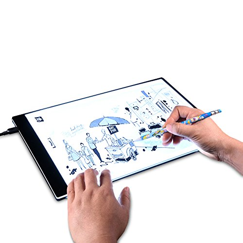 Tracing Light Box A4 LED Artcraft Tracing Light Pad Light Box For Artists-Drawing- Sketching-Animation (A) by Life up