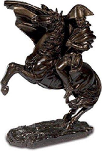 Katerina Prestige Statuette Napol/éon /à Cheval Coloris Bronze fonc/é de J.Louis David