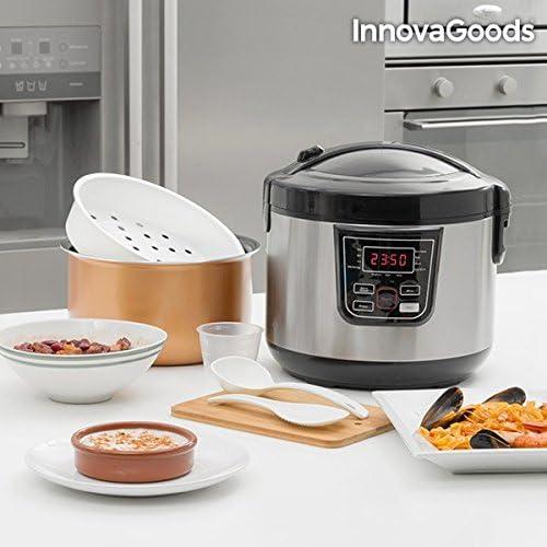 InnovaGoods IG114222 Robot de Cocina con Recetario, 800 W, 4 Litros, Negro: Amazon.es: Hogar