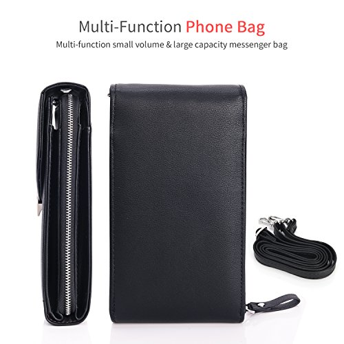 Phone Bag Crossbody Small Pockets Cell For Cellphone Wallet Messenger Roomy Black Pouch Case 1 Purse Bag Wallet Women 05ddOnq