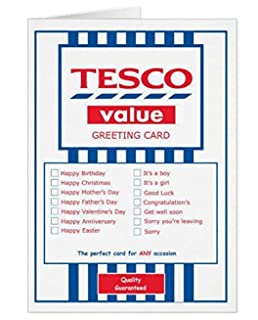 Tesco value funny joke greetings card for literally any occasion tesco value greeting card for any occasion funny bookmarktalkfo Images