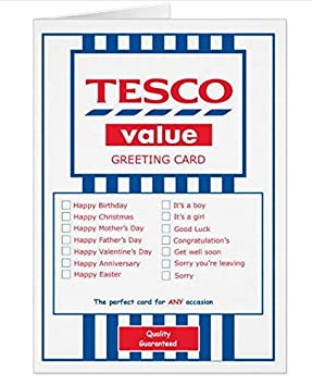 Tesco Value Greeting Card For Any Occasion Funny Amazon Co Uk
