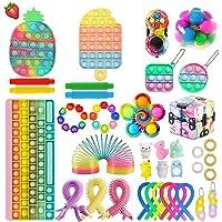 VELIHOME Sensory Fidget Toy Set Fidget Toy Pack Push Bubble Pop Brinquedo Fidget para Pessoas com Necessidades Especiais…
